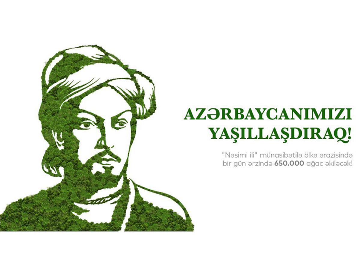 Завтра в Азербайджане будет посажено 650 тыс. деревьев в один день